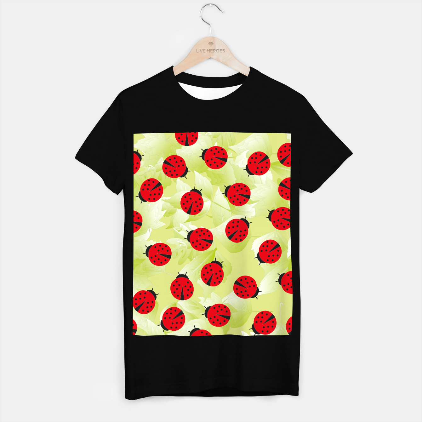 Foto Ladybugs and leaves nature print T-shirt regular - Live Heroes