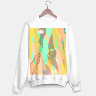 Thumbnail image of Life at the bottom of the ocean, abstract underwater print Sweater regular, Live Heroes
