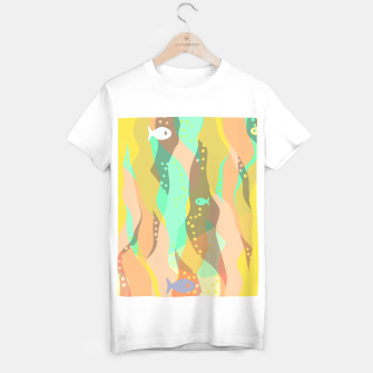 Thumbnail image of Life at the bottom of the ocean, abstract underwater print T-shirt regular, Live Heroes