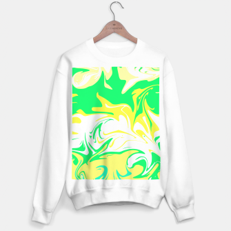 Thumbnail image of The hurricane, abstract color storm in green, white and yellow  Sweater regular, Live Heroes