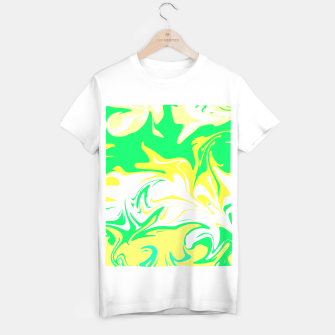 Thumbnail image of The hurricane, abstract color storm in green, white and yellow  T-shirt regular, Live Heroes