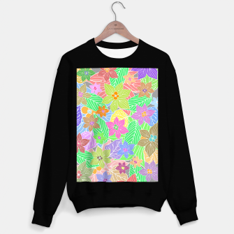 Imagen en miniatura de Fresh colors imaginary garden, botanical motifs Sweater regular, Live Heroes