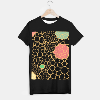 Thumbnail image of Art chrysanthemums flowers in black and gold print T-shirt regular, Live Heroes