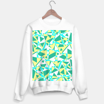 Thumbnail image of Pieces of colorful broken glass in summer colors Sweater regular, Live Heroes