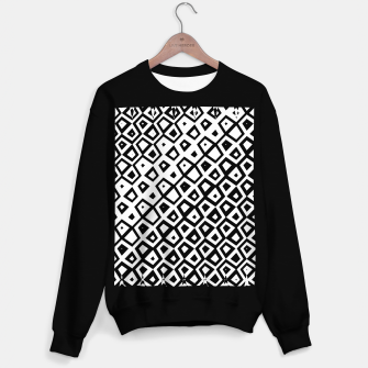 Miniature de image de Asymmetry collection: black and white geometry Sweater regular, Live Heroes