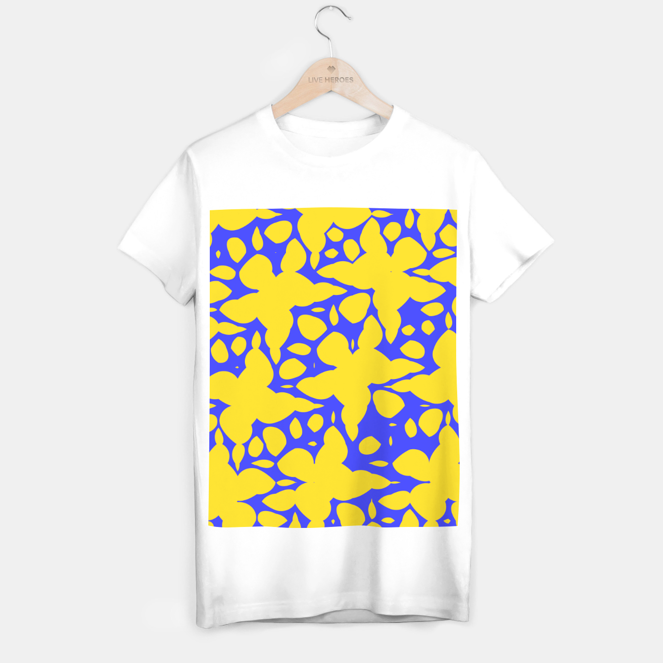 Image de Asymmetry collection: abstract flowers in the water T-shirt regular - Live Heroes