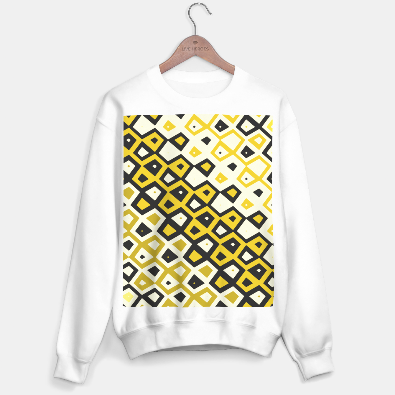 Image de Asymmetry collection: retro shapes and colors Sweater regular - Live Heroes