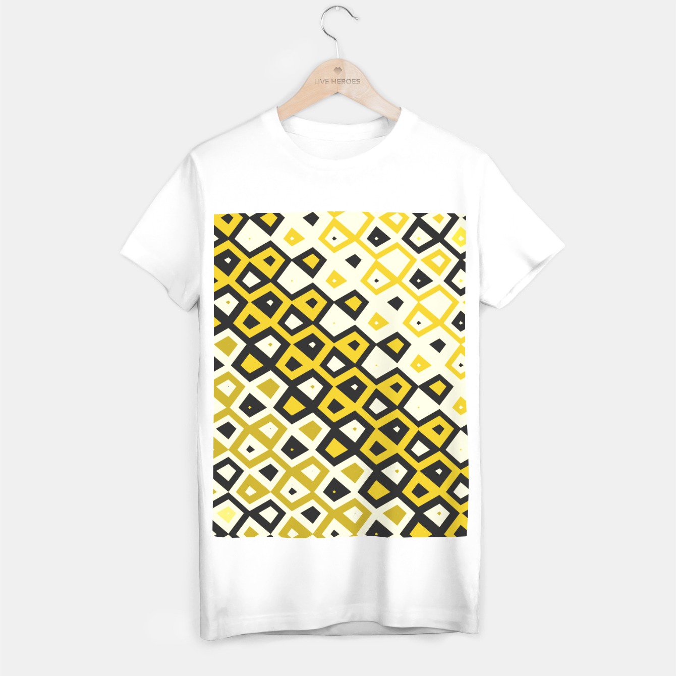 Image de Asymmetry collection: retro shapes and colors T-shirt regular - Live Heroes