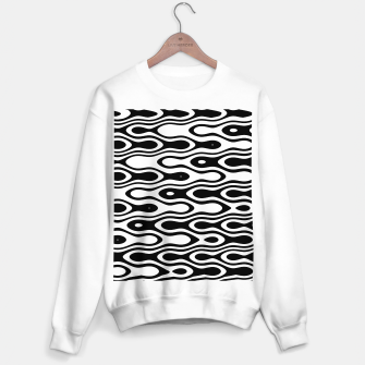 Miniaturka Asymmetry collection: black and white waves Sweater regular, Live Heroes