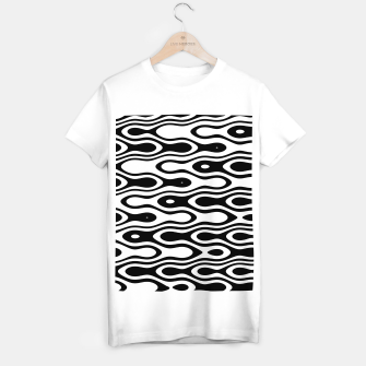 Thumbnail image of Asymmetry collection: black and white waves T-shirt regular, Live Heroes