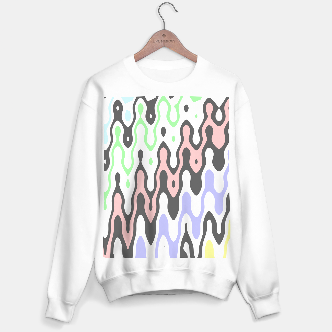 Image de Asymmetry collection: waves Sweater regular - Live Heroes