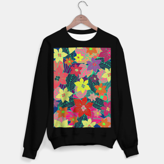 Miniaturka Imaginary garden, digital botanical print  Sweater regular, Live Heroes