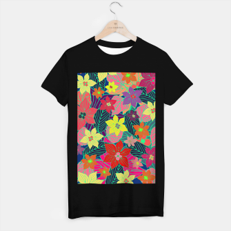 Miniaturka Imaginary garden, digital botanical print  T-shirt regular, Live Heroes