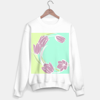 Tulips, botanical spring print Sweater regular Bild der Miniatur