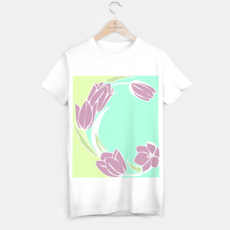 Thumbnail image of Tulips, botanical spring print T-shirt regular, Live Heroes