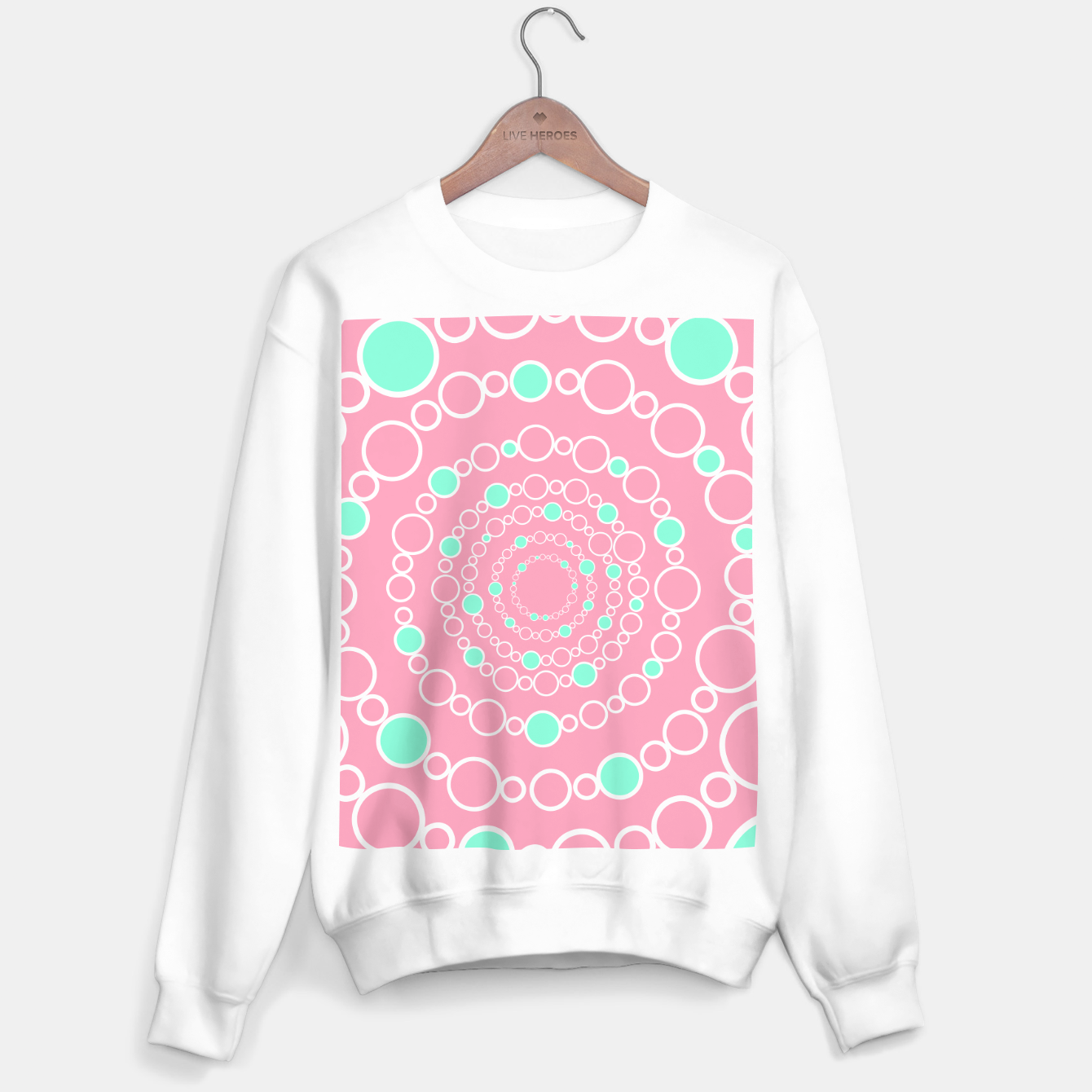 Image de Tunnel of bubbles, pink and blue Sweater regular - Live Heroes
