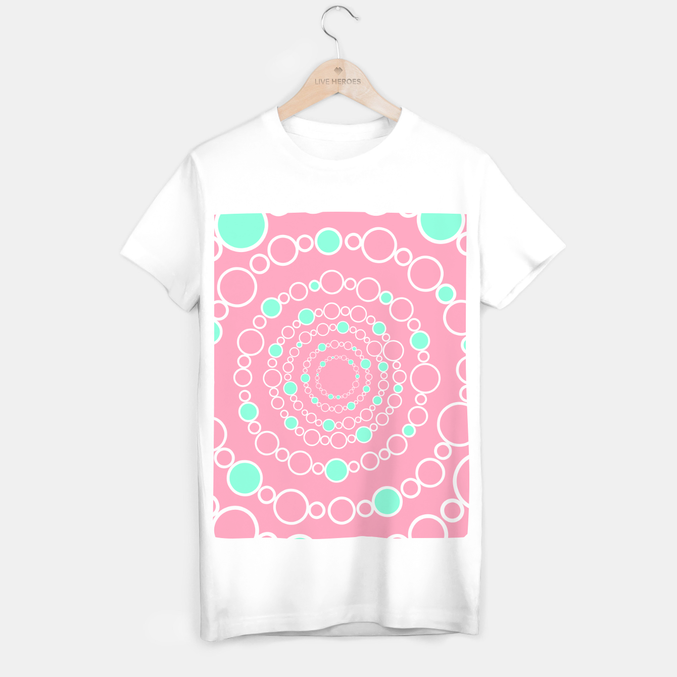 Image de Tunnel of bubbles, pink and blue T-shirt regular - Live Heroes