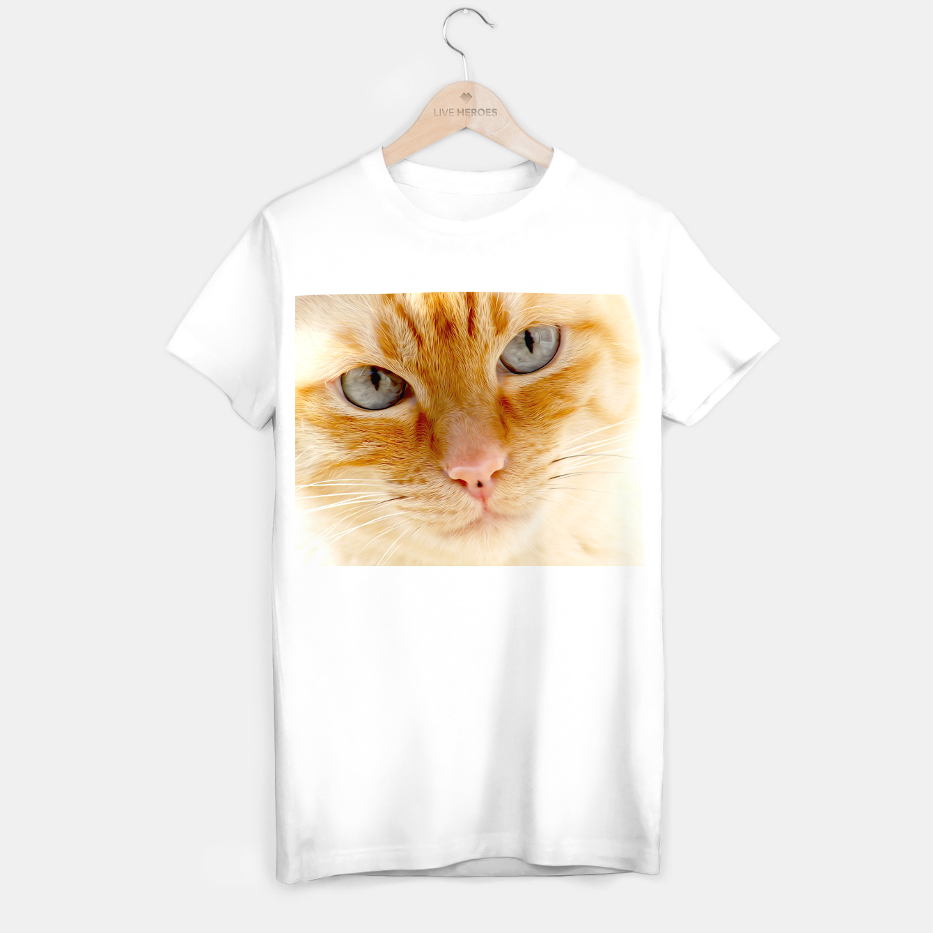 Image de Cat with the blue eyes, cat face print  T-shirt regular - Live Heroes