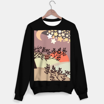 Thumbnail image of Quiet and peaceful night, cute owl snooze on the tree Sweater regular, Live Heroes