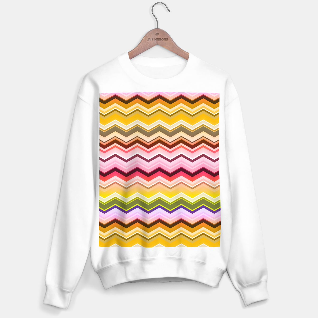Image de Zig zag waves print Sweater regular - Live Heroes