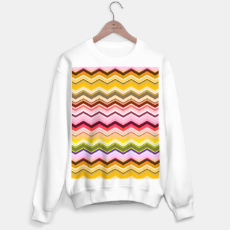 Miniaturka Zig zag waves print Sweater regular, Live Heroes