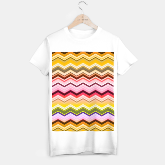Miniaturka Zig zag waves print T-shirt regular, Live Heroes
