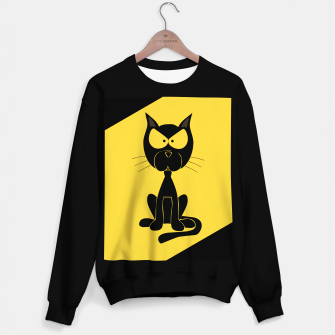 Miniaturka The angry cat print, animal cartoon design Sweater regular, Live Heroes
