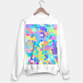 Miniaturka Stained glass print, colorful crystal shapes Sweater regular, Live Heroes