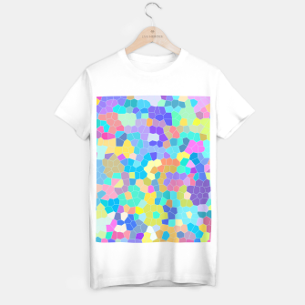 Miniaturka Stained glass print, colorful crystal shapes T-shirt regular, Live Heroes