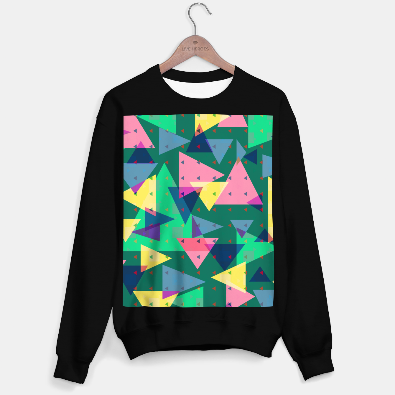 Image de Triangles, my favorite geometric shapes  Sweater regular - Live Heroes