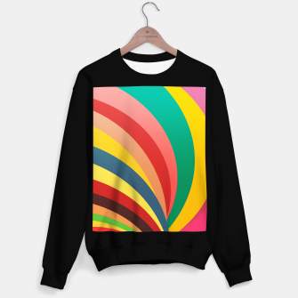 Miniaturka Colorful stripes, rainbow print Sweater regular, Live Heroes