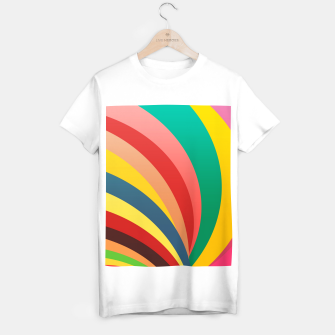 Miniaturka Colorful stripes, rainbow print T-shirt regular, Live Heroes