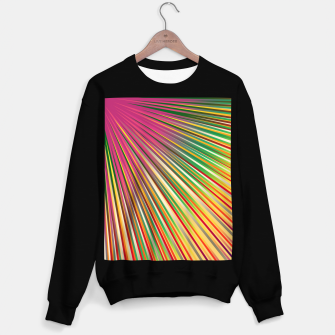 Miniaturka Rainbow rays, abstract print, diagonal lines Sweater regular, Live Heroes
