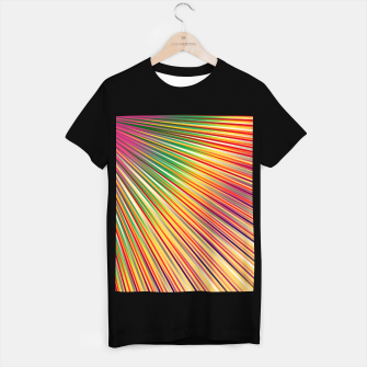 Miniaturka Rainbow rays, abstract print, diagonal lines T-shirt regular, Live Heroes