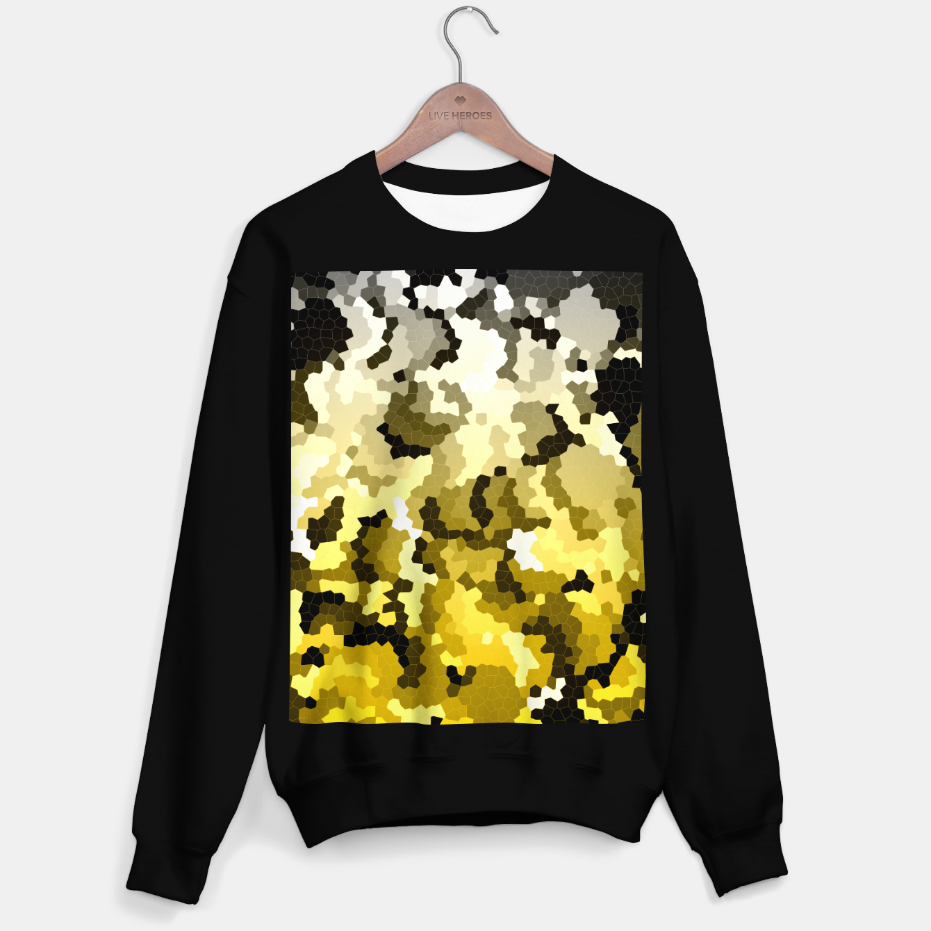 Image of Golden crystals print Sweater regular - Live Heroes