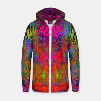 Thumbnail image of Meditation Vertigo Zip up hoodie, Live Heroes