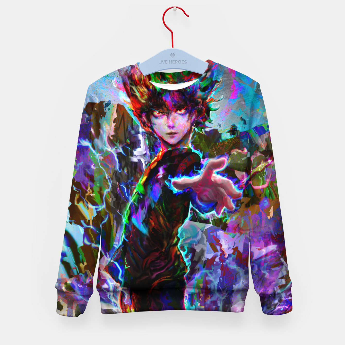 Image of mob psycho 100 Kid's sweater - Live Heroes