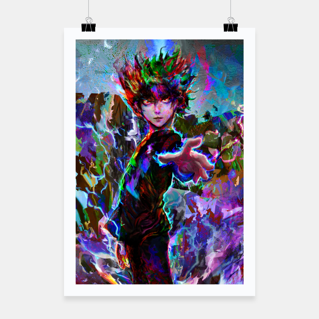 Image of mob psycho 100 Poster - Live Heroes