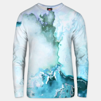 Miniaturka blue fantasy abstract marbled digital painting Unisex sweater, Live Heroes