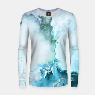Miniaturka blue fantasy abstract marbled digital painting Women sweater, Live Heroes