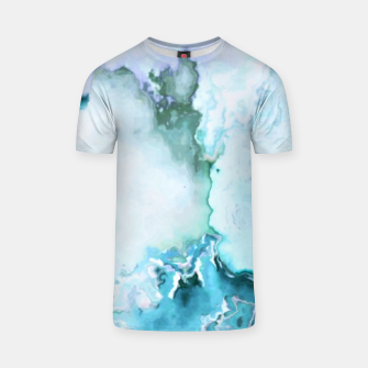 Miniaturka blue fantasy abstract marbled digital painting T-shirt, Live Heroes
