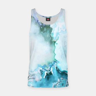 Miniaturka blue fantasy abstract marbled digital painting Tank Top, Live Heroes