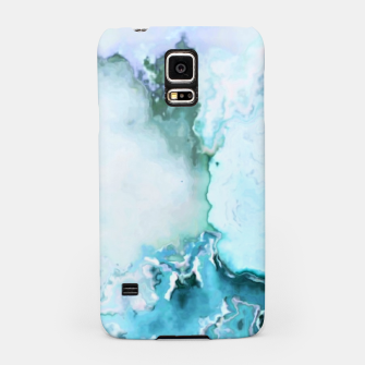 Miniaturka blue fantasy abstract marbled digital painting Samsung Case, Live Heroes