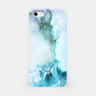 Miniaturka blue fantasy abstract marbled digital painting iPhone Case, Live Heroes