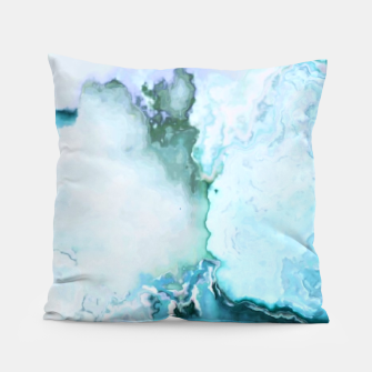 Miniaturka blue fantasy abstract marbled digital painting Pillow, Live Heroes