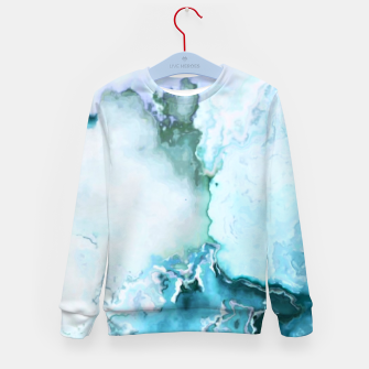 Miniaturka blue fantasy abstract marbled digital painting Kid's sweater, Live Heroes
