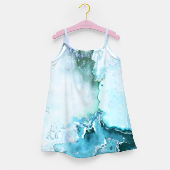 Miniaturka blue fantasy abstract marbled digital painting Girl's dress, Live Heroes