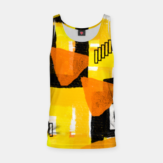 Thumbnail image of yellow orange white black abstract geometric digital painting Tank Top, Live Heroes
