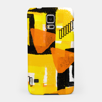 Thumbnail image of yellow orange white black abstract geometric digital painting Samsung Case, Live Heroes