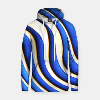 Thumbnail image of blue beige 3d abstract wavy striped pattern Hoodie, Live Heroes